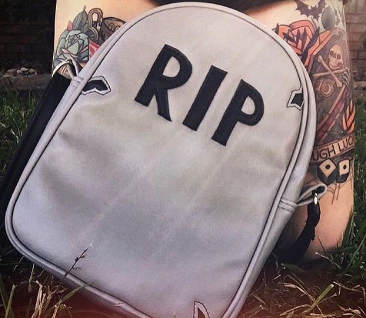 Headstone bag #grave #cemetery #goth