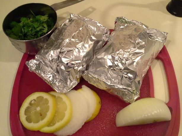 Cod Fish Grilled in Foil