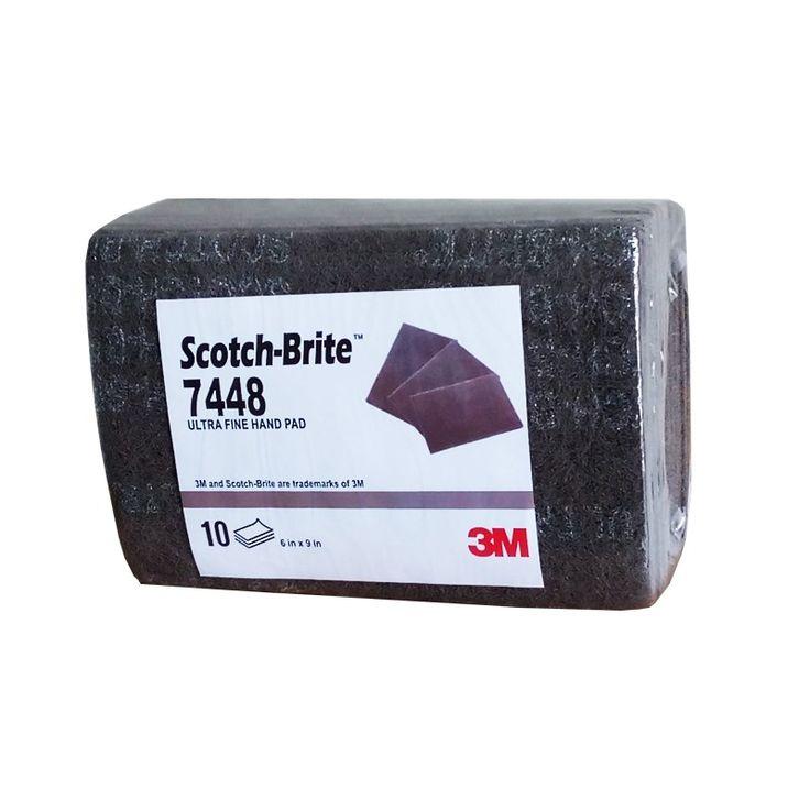 Scotch-Brite™ Ultra Fine Hand Pad 7448, 6 in x 9 in (Amplas).  Scotch-Brite™ Ultra Fine Hand Pad 7448, 6 in x 9 in, 10 pads/Bundle (Amplas). - Harga per Bundle (10 pads)  http://tigaem.com/scotchbrite/731-scotch-brite-ultra-fine-hand-pad-7448-6-in-x-9-in.html  #scotchbrite #amplas #3M