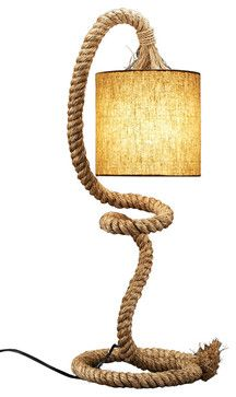 Nautical Rope Table Lamp - beach-style - Table Lamps - Natural design house