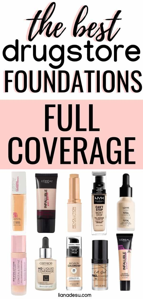 Best Full-Coverage Drugstore Foundations in 2019