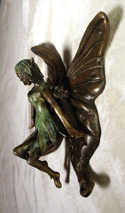 Flutter Me Bye ~~~    Beautiful Fairy Door Knocker, cute for my garden gate
