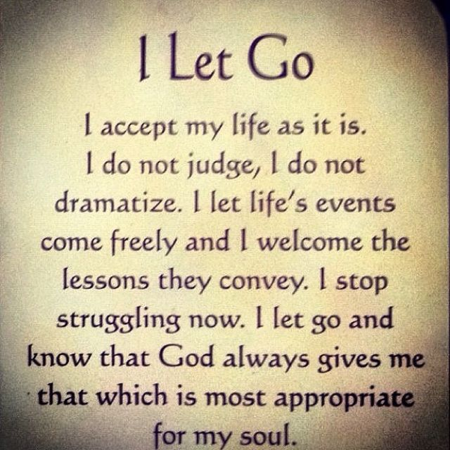 I let go! I let God's will ... #quotes #meditations #God #Catholic #Christianity