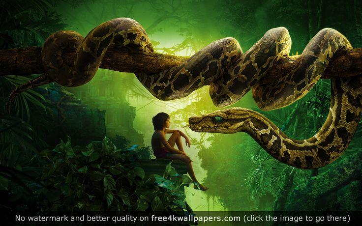 Jungle Book Snake Kaa Mowgli HD wallpaper