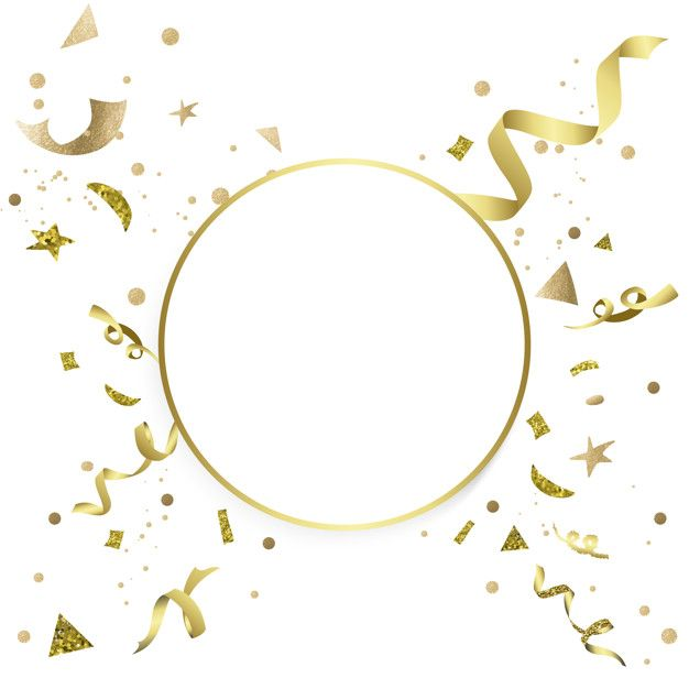 Gold Confetti Celebratory Design Free Vector Gold Graphic Design Vector Free Gold Confetti