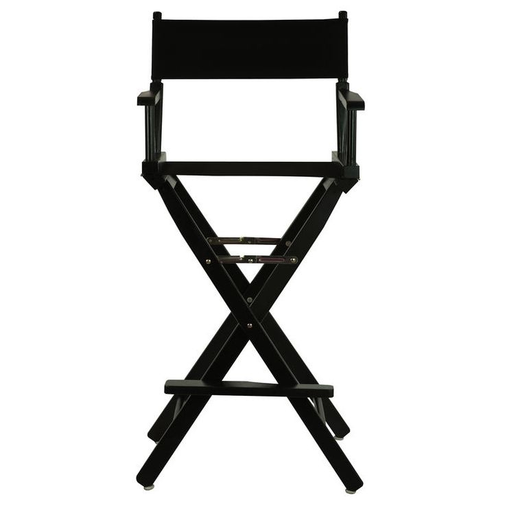 30-in Director's Chair - Black