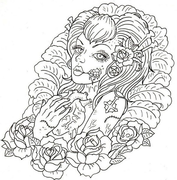 calavera catrina coloring pages - photo#2