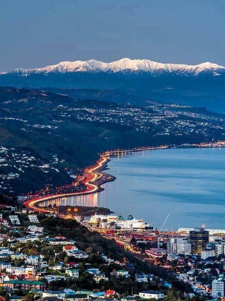 Wellington City Night Sky