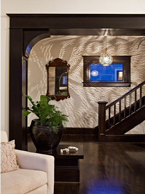 View Of Front Entry From The Living Room In Glamorous Four Square House  Design Ideas