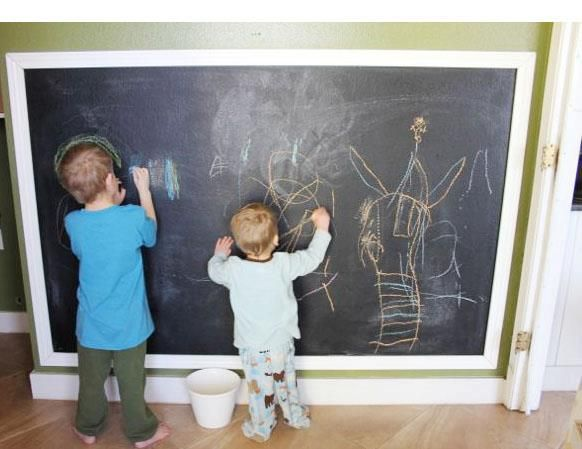 25+ Best Ideas About Framed Chalkboard Walls On Pinterest