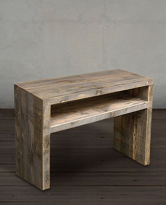 25 best ideas about reclaimed wood media console on pinterest diy tv stand simple tv stand - Reclaimed wood tv stand ideas ...