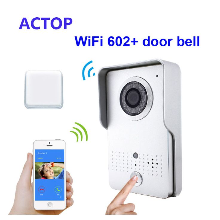 Free Shipping!!Smart phone iSO Android Remote control unlock WiFi/IP video door phone+wireless door bell camera