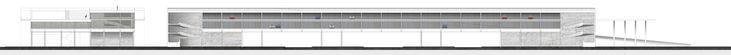 Проект «Гараж-мост вблизи метро «Сходненская». Город Москва. Автор: Кирилл Волков, студент 5 группы 3 курса. Фасад