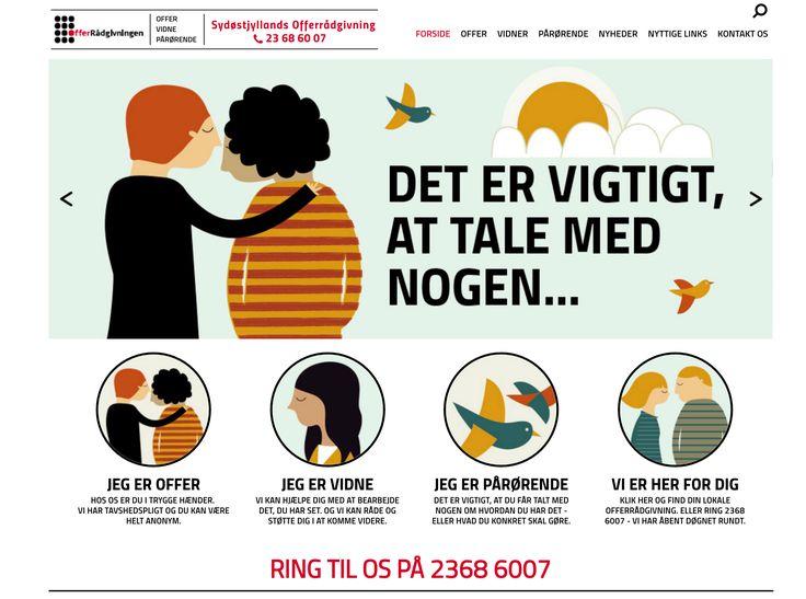 Nyt flot hjemmeside i luften. Denne gang for Sydøstjyllands Offerrådgivning.