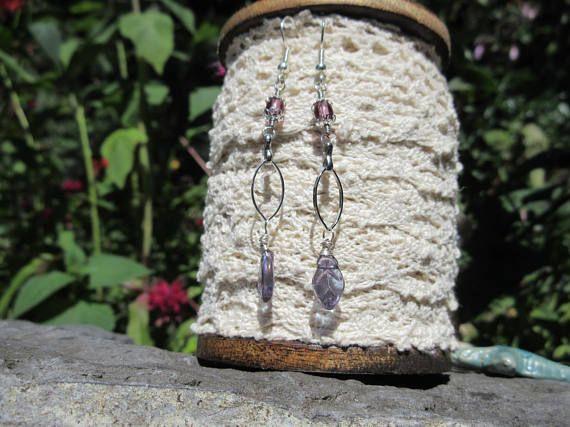 Tiny Leaf Earrings Long Dingley Earrings fancy or casual