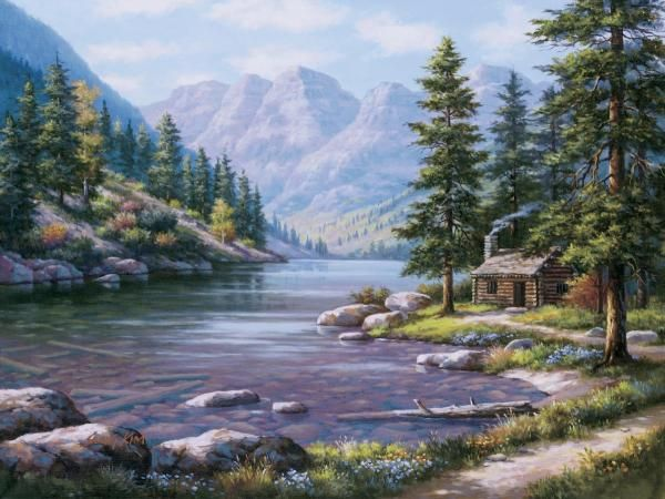 Sung Kim - Log Cabin Retreat - Fine Art Print - Global Gallery