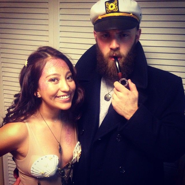 Pin for Later: 60 Sexy Halloween Couples Costume Ideas Sea Captain and Mermaid Love can be on land or on the sea.