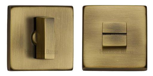 Heritage Brass Square 54mm x 54mm Turn & Release, Antique Brass - SQ4035-AT None