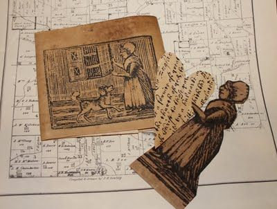a fine farmhouse: How to Age Paper for Printing ... My way    Coffee stain paper and then copy