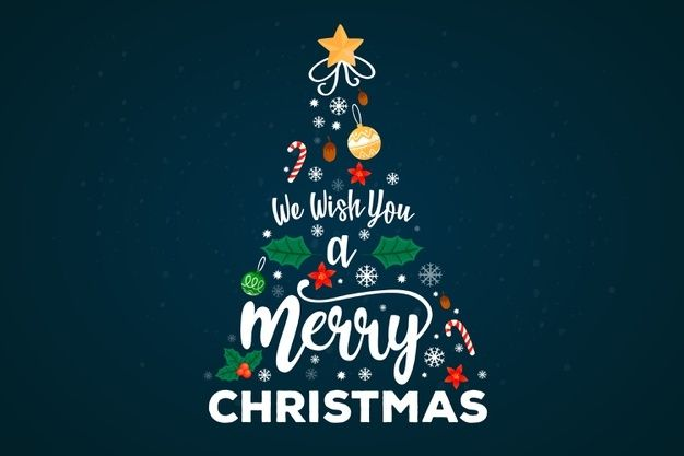 Download Merry Christmas Tree With Lettering Decoration For Free In 2020 Free Christmas Greetings Christmas Greetings Messages Christmas Tree Collection