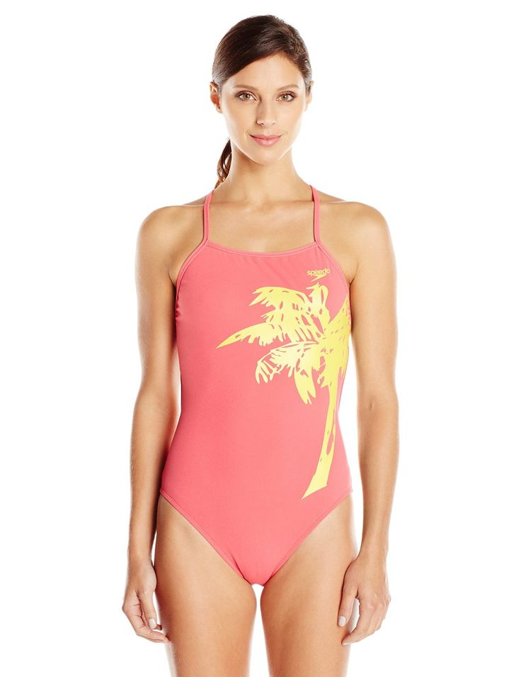 Speedo Women's Palm Extreme Back One Piece Swimsuit. All the long lasting  performance qualities of