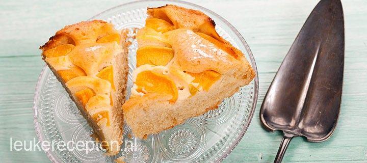 Snel recept voor heerlijke luchtige cake met perzik (of ander fruit)