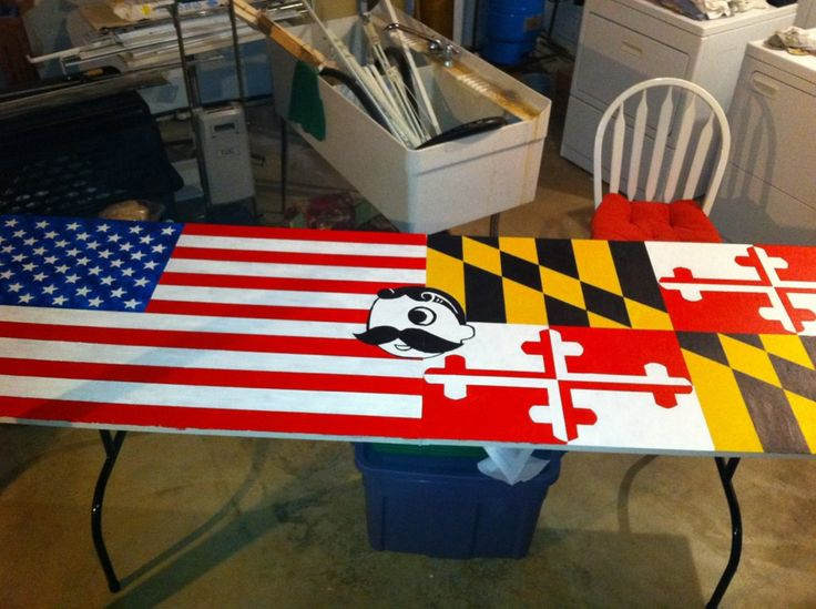 Baltimore, MD inspired Beer Pong Table