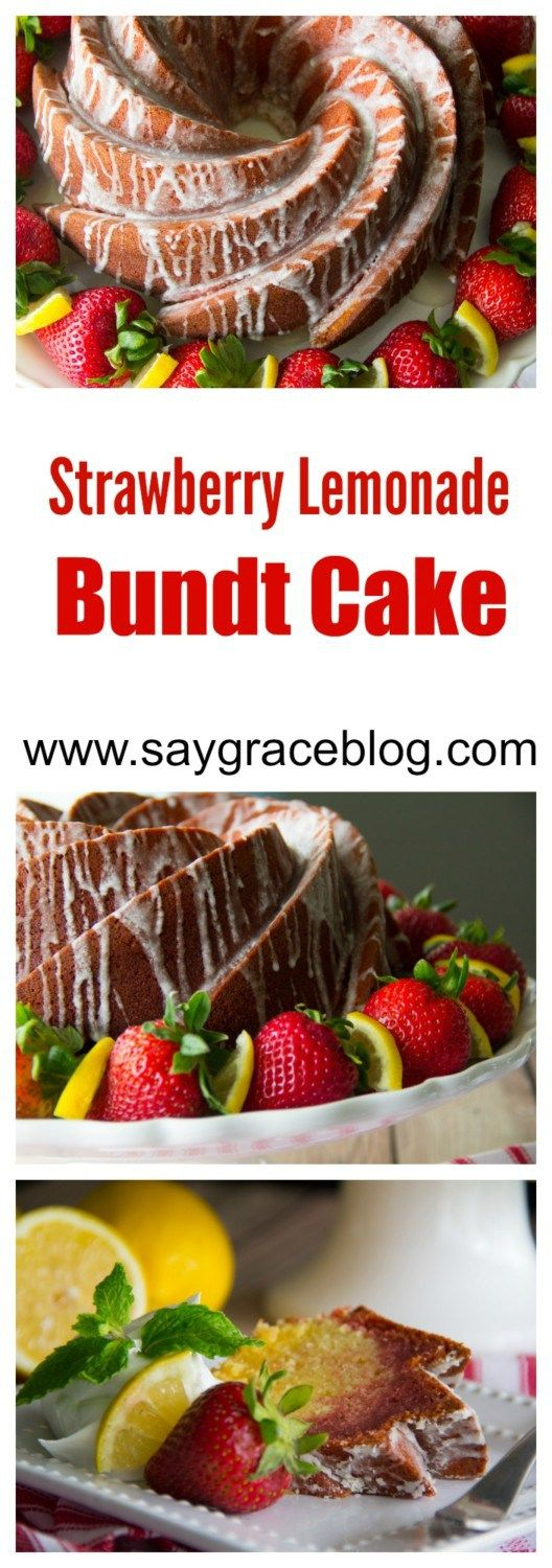 Southern Dessert | Strawberry Lemonade Bundt Cake - Now you have a recipe for that viral facebook post!!!!!