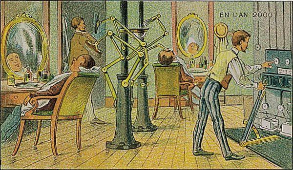На картинке – то, как представляли жители 19-го века быт людей в начале века 21-го. В чем-то художник был прав: каждый наш шаг сопровождают электронные гаджеты, а привычные вещи уже не кажутся такими обыденными. Убирают дом роботы-пылесосы, готовят еду мультиварки и «умные» электроплиты. И даже обычным брюкам нашлось новое применение… (10 фотографий)