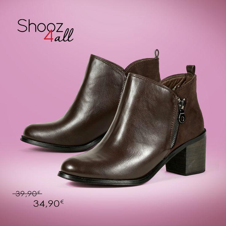 Low cut γυναικεία μποτάκια σε καφέ χρώμα. Από τεχνόδερμα άριστης ποιότητας, με εσωτερική επένδυση από ύφασμα, διαθέτουν χοντρό τακούνι ύψους 6 cm. Γυναικεία παπούτσια που συνδυάζονται εύκολα όλες τις ώρες της ημέρας.  http://www.shooz4all.com/el/gynaikeia-papoutsia/kafe-low-cut-gynaikeia-mpotakia-oh214-detail #shooz4all #low_cut #mpotakia