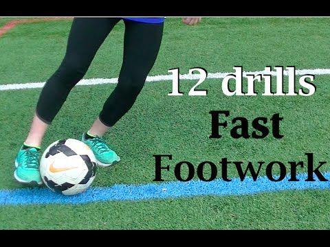 Fast Feet Beginner Soccer Drills - YouTube
