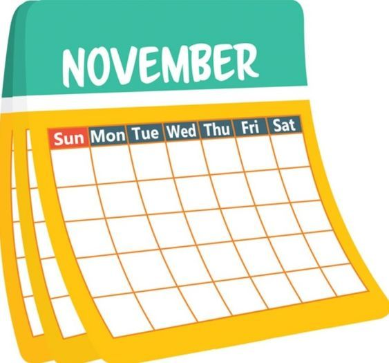 Calendario Clipart.November Number Calendar Clipart November 2018 January
