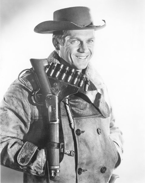 """Wanted Dead or Alive 1958-1961 Josh Randall was not a typical bounty hunter of the Old West; he was a consummate gentleman who many times gave away half - or even all - of his reward money to good causes. He was a man of few words and he was adept at using his gun, not an ordinary gun but a .44-.40 sawed-off 1892 Winchester carbine shotgun which he wore on his belt and fondly called his """"Mare's Leg""""."""