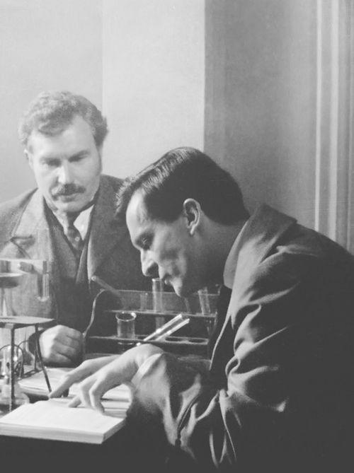 David Burke and Jeremy Brett / Watson and Holmes
