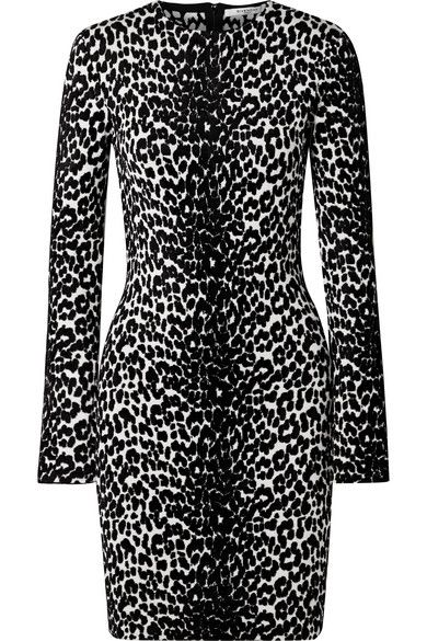 Givenchy - Stretch Jacquard-knit Mini Dress - Black. Find this Pin and more on  Animal Print ... d5f3f398c