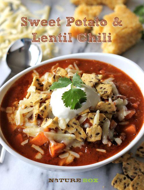 Sweet Potato & Lentil Chili #meatlessmonday