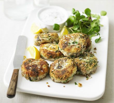 Feelgood fish cakes - this recipe calls for tinned sardines, but I plan to make this later with tinned mackerel because that's what we happen to have in.