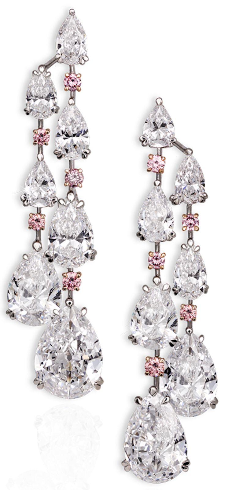 103 best Diamond (Pink) Earrings images on Pinterest | Pink ...