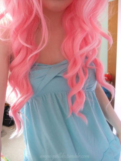 pink hair... Reminds me of bubble gum!