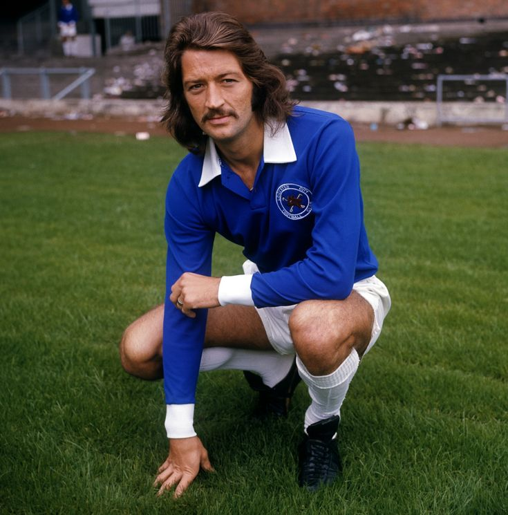 Frank 'Elvis' Worthington in the colours of Leicester City in Autumn 1972.