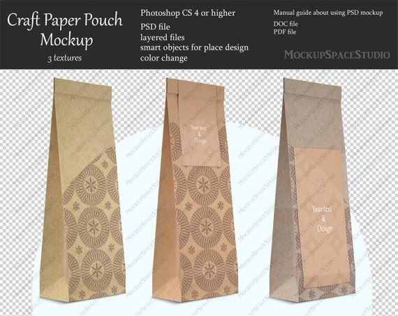 Download Paper Bag Mockup Paper Pouch Craft Paper Packaging Bag Etsy Paper Pouch Paper Crafts Pouch Craft