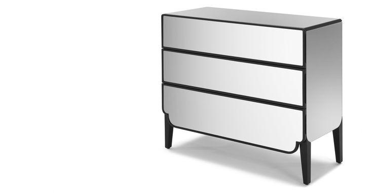 Belle 3 Drawer Chest, Mirror