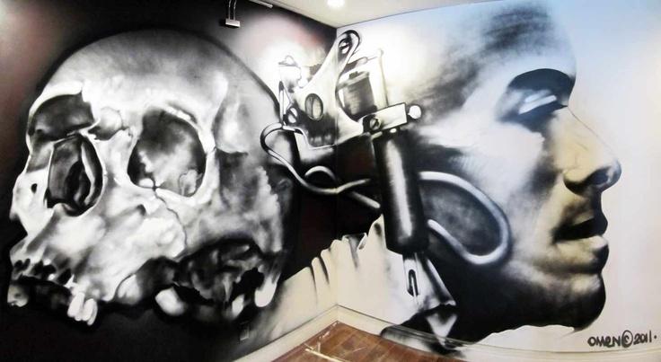 work I did for a tattoo shop  http://facebook.com/OmenGraffiti