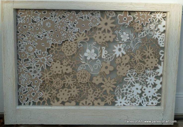 Panes of Art, Hand Painted Window Pane Art, Window Art, Decorative Window Panes, Old Barn Wood Art For Sale, Michele Mueller,