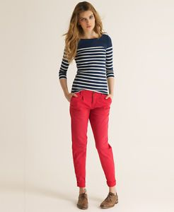 New-Womens-Superdry-Classic-Chino-Trousers-Lobster-Pot-Red-AB