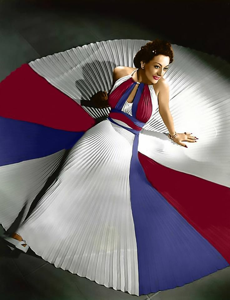 Red White & Blue Joan Crawford