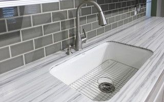 kitchen countertop -gray striato solid surface- formica