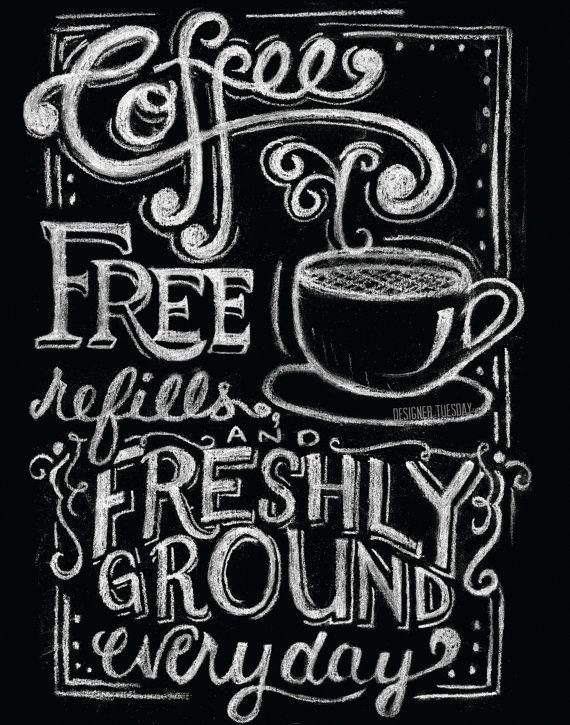 Chalkboard Coffee Poster on Etsy, $18.00