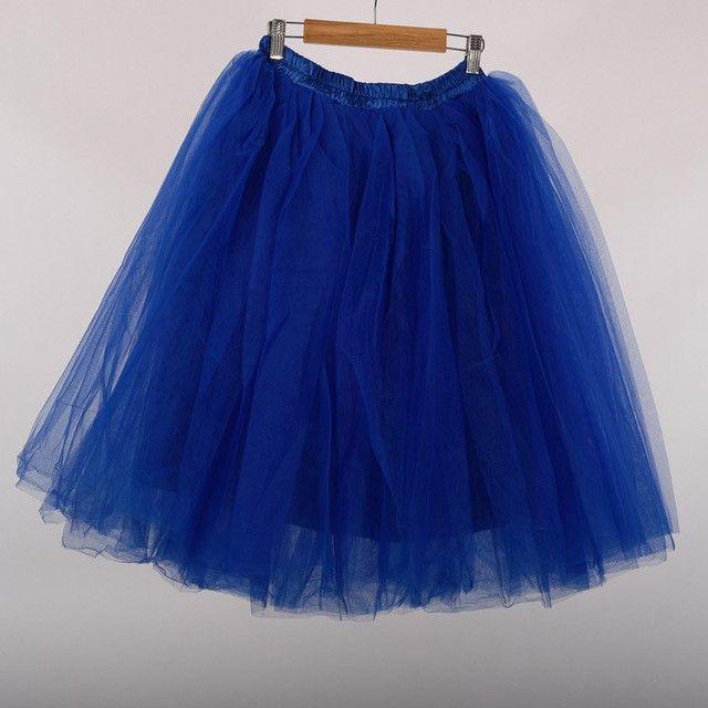 Best Quality 7 Layers Midi Tulle Skirt American Apparel Tutu Skirts Womens Petticoat Elastic Belt 2017 Summer faldas saia jupe