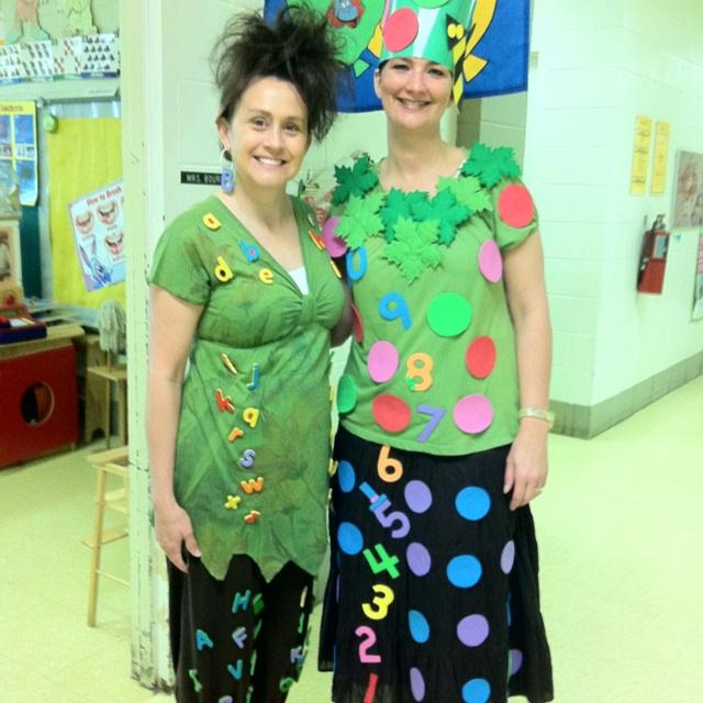 Storybook Character Dress-up Day.  Chicka Chicka Boom Boom and Chicka Chicka 123!!